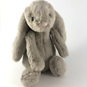 "Jellycat 7"" Plush Bashful Bunny Rabbit Tan Taupe Soft Stuffed Animal Toy Lovey"