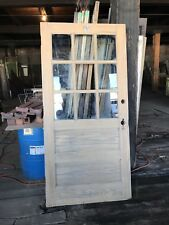 Antique oak school house door. Recently stripped 6 available farm house doors