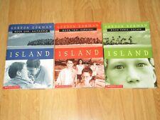 Complete Set Series-3 Books-Island Trilogy Gordon Korman YA-Shipwreck-Survival-E
