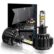 CREE LED Headlight Kit H3 Cool White Color Bulbs 7200LM 60W 6000K One Pair