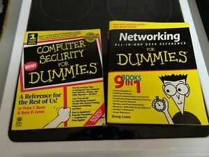IT PC computer networking / security for dummies books