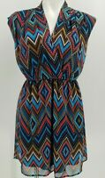 ANTHROPOLOGIE Needle & Thread Women's Tribal Summer Sleeveless Dress Size Small