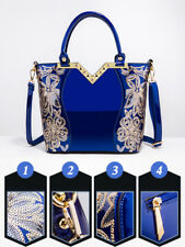 Exquisite Sequined Hand Bags For Women - Blue (ESG070571)