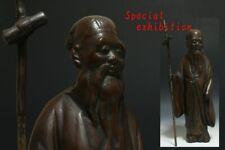 Japan antique Edo Jurojin statue ornament Temple samurai yoroi Busho katana God