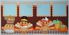Elite4U Premade Scrapbook Page Paper Piecing Fall Thanksgiving BLJgraves 84