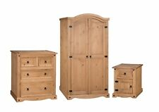 Corona Bedroom Set Arch Top 3 Piece Package Mexican Solid Pine Mercers Furniture