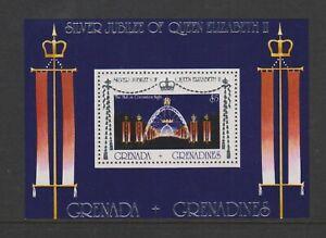 Grenada Grenadinen - 1977, Silber Jubiläum Blatt - MNH - Sg MS218