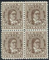 COOK ISLANDS 1893 QUEEN 1D BLOCK */** WMK UPRIGHT PERF 11
