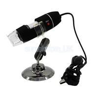 200X 2MP 8 LED USB Digital Microscope Endoscope Zoom Camera Magnifier +Stand