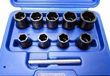 """Bergen 10pc 3/8"""" Dr Twist de impacto Socket Set 10mm - 19mm 1423 Perno Tuerca Dañada"""