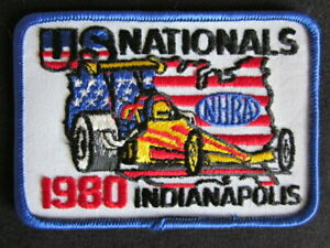 1980 National Hot Rod Association U. S. Nationals Indianapolis Embroidered Patch