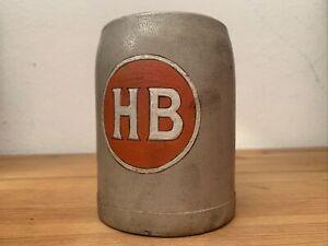 Alter Bierkrug Hofbrauerei HB Krug Bierkrüge Beerstein brewery 0,5 Selten