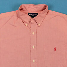 Men's POLO RALPH LAUREN Shirt Size XL Golf Tilden Red Pony Check Plaid Oxford