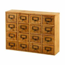 Wooden Storage Cabinet Unit 16 Drawers Chest Organiser Shabby Chic
