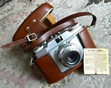 Agfa Silette Prontor SVS 35mm Camera & Original Leather Case In Superb Condition