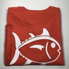 Southern Tide Men's Skipjack Short Sleeve Pocket T-Shirt. Dark Orange .XXL.