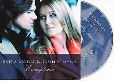 PETRA BERGER & JOSHUA PAYNE - Every time CD SINGLE 2TR CARDSLEEVE 2004 HOLLAND