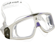 Schwimmbrille Aqua Sphere Seal Lady 2.0 - White-Lavendel - Scheibe transp.12099
