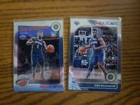 2019-20 NBA Hoops Premium Stock Zion Williamson 2 card Lot RC#258 and #296