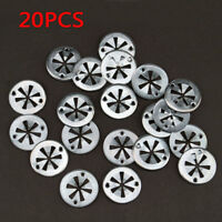 20Pcs Car Auto Seat Metal Clamping Plate Washer Cover Mounting Clips Heat Shield