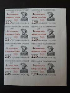 bloc 8 timbres France non dentelés yt 2609 François 1er neufs XX cote 120 euros