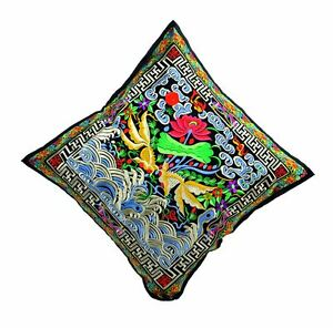 TATTOPANI CUSHION COVER WITH FLORAL EMBROIDERY 45 X 45CM !