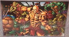 TMNT vs Mortal Kombat Goro Glossy Art Print 11 x 17 In Hard Plastic Sleeve
