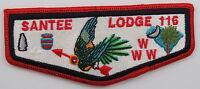 OA Lodge 116 Santee S12a ORD; Dull BLU details; clear lockstitch; [D1673]