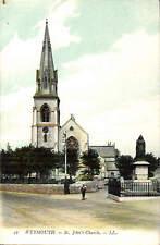 Weymouth. St John's Church # 42 by LL / Levy. Coloured.