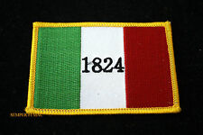 1824 REMEMBER THE ALAMO FLAG HAT PATCH TEXAS MEXICAN BATTLE PIN UP DAVY CROCKETT