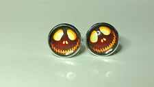 Jack Skellington Lantern Glass domed Nightmare before halloween cufflinks