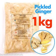 Pickled Ginger Japanese Sushi white Ginger 1kg Commercial Top Grade Wholesales