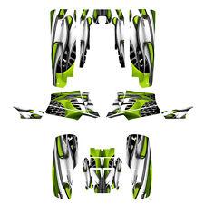 Yamaha Banshee 350 graphics custom full coverage sticker kit #4444 Lime Green