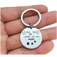 Gift Keyring Engraved Letter Keychain Charm Accessories Creative New Key Holder