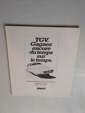 SNCF TGV Publicité Années 1980 - 1985 Advertising Vintage AD Paper Papier