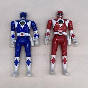 "Mighty Morphin Power Rangers Vintage 1993 Bandai Flip Head Figures (2) 5.25"""