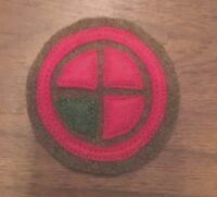 WWI US Army 35th Division patch wool