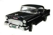 1:18 Motor Max Motormax Black 1955 Chevy Bel Air  Chevrolet