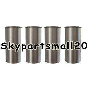 4x Cylinder Liners Grade 2 For Mustang Bobcat NPR Isuzu 4JB1 4JB1T Engine
