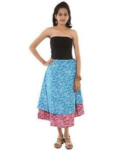 Rajrang Multi Color Sarong Floral Printed Casual Western Wear summer skirt