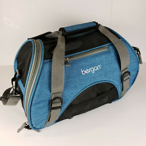 Bergan Dog Cat Pet Airline Comfort Carrier Tote with Fleece Bed Small Bermuda SM
