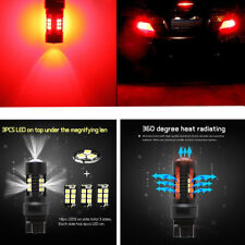RED 7443 7440 T20 W21/5W 21SMD Super High Power LED Brake Tail Turn Light Bulb
