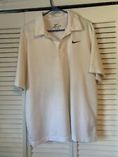 Nike Dri-Fit Short Sleeve White Golf Polo Shirt Mens Xl Excellent Condition