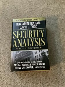 Security Analysis Sixth Edition Hardcover 2009 with CD/ROM