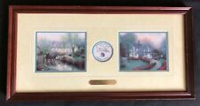 """Thomas Kinkade Accent Print Collection 'Simpler Times' Coa - Framed 19"""" x 10"""""""