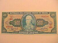 1961 Brazil 500 Cruzeiros Choice CU Crisp Unc Currency Brasil Banknote p-172a