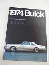1974 Buick advertising booklet LeSabre Electra Riviera Century Apollo 60 pages