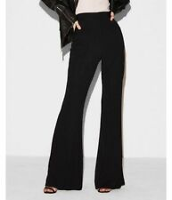 Juicy Couture Black Wool Flare Full Lined Women Dress Pants Size:25