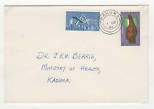 1962 NIGERIA First Day Cover INDEPENDENCE 2nd ANNIVERSARY SG120/1 Kaduna