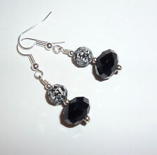 Swarovski Silver Plated Round Stone Costume Earrings